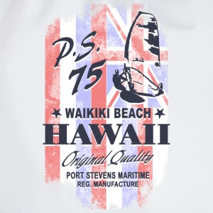 Hawaii Surfing - Hawaii Vintage Flag Long sleeve shirts - Drawstring Bag
