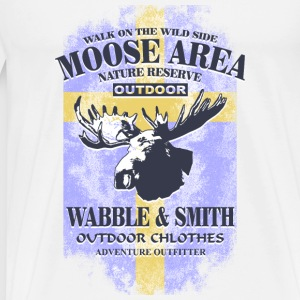 Moose Land - Sweden Vintage Flag Sports wear - Men's Premium T-Shirt