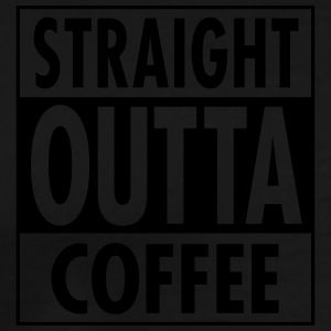 Straight Outta Coffee Tank Tops - Herre premium T-shirt