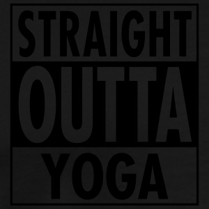 Straight Outta Yoga Sweaters - Mannen Premium T-shirt