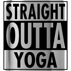 Straight Outta Yoga T-Shirts - Water Bottle