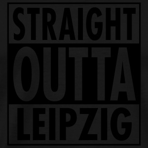 Straight Outta Leipzig Manches longues - T-shirt Premium Homme