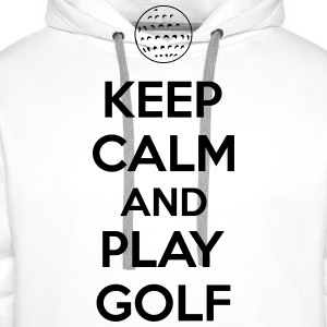 Keep calm and play golf T-shirts - Premiumluvtröja herr