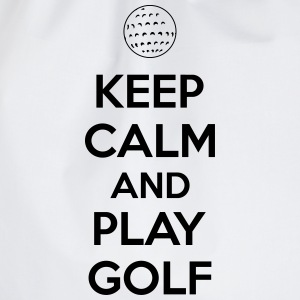 Keep calm and play golf Singlets - Gymbag