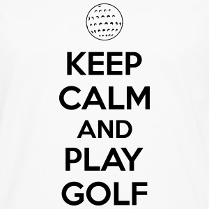 Keep calm and play golf Singlets - Premium langermet T-skjorte for menn