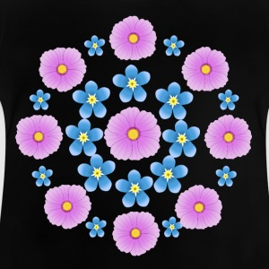 Flowers pink and blue Camisetas - Camiseta bebé
