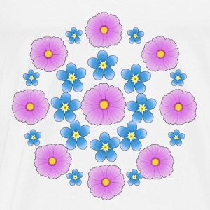 Flowers pink and blue Baby-bodyer - Herre premium T-shirt