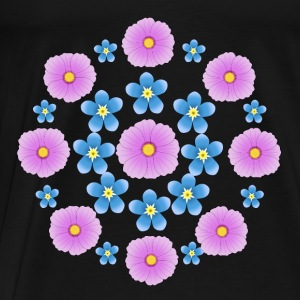 Flowers pink and blue Débardeurs - T-shirt Premium Homme