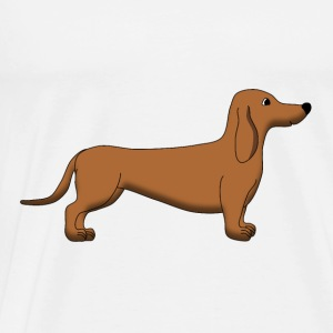Dachshund Brown Tops - Mannen Premium T-shirt