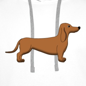 Dachshund Brown Shirts - Men's Premium Hoodie
