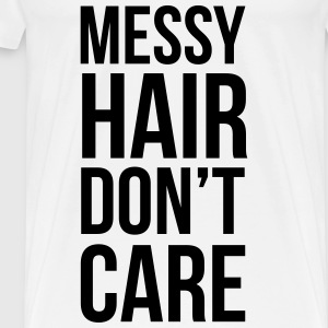Messy Hair Toppar - Premium-T-shirt herr
