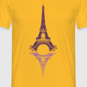 Eiffel tower Topper - T-skjorte for menn