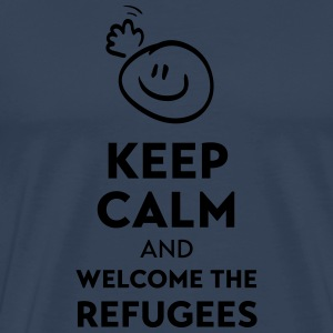 Keep calm and welcome the Refugees Autres - T-shirt Premium Homme