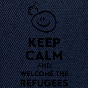 Keep calm and welcome the Refugees Other - Snapback Cap