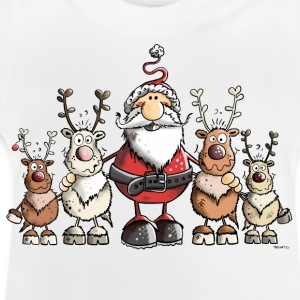 Santa Claus with reindeer Shirts - Baby T-Shirt