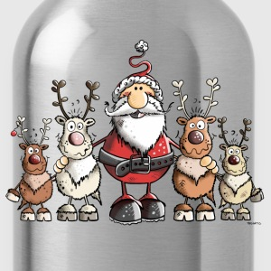 Santa Claus with reindeer Hoodies & Sweatshirts - Water Bottle