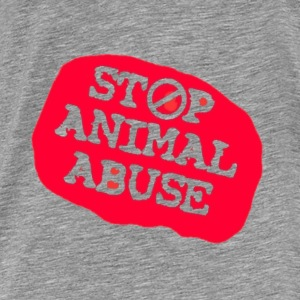 stop animal abuse Hoodies & Sweatshirts - Men's Premium T-Shirt
