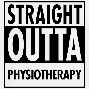Straight Outta Physiotherapy Toppar - Premium-T-shirt herr