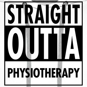 Straight Outta Physiotherapy T-shirts - Premiumluvtröja herr