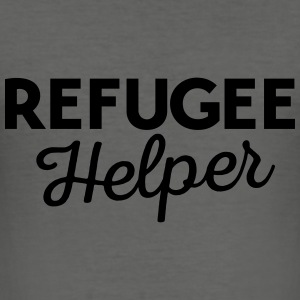 Refugee helper Bags & Backpacks - Men's Slim Fit T-Shirt