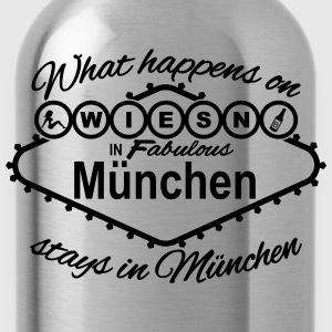 what happens on Wiesn in München stays Vegas T-Shirts - Trinkflasche