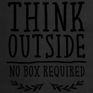 Think Outside - No Box Required Tee shirts - Tablier de cuisine