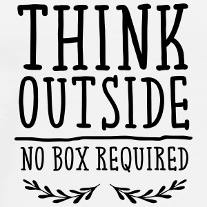 Think Outside - No Box Required Vesker & ryggsekker - Premium T-skjorte for menn