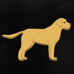 Beige Labrador page T-shirts - Baby-T-shirt
