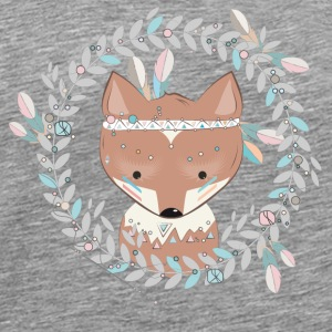 little fox with feather headdress Other - Men's Premium T-Shirt