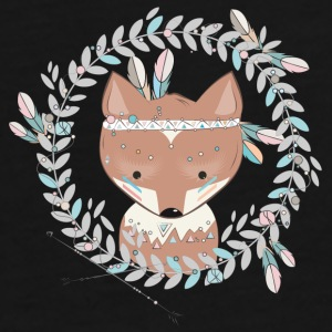 little fox with feather headdress Bags & Backpacks - Men's Premium T-Shirt