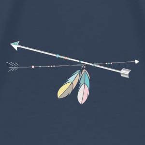 two native arrows with Feather Decoration Other - Men's Premium T-Shirt