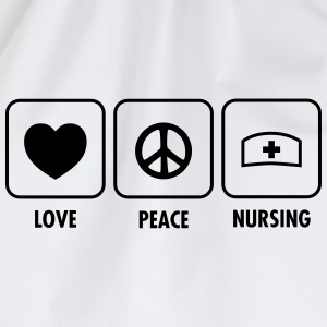 Love - Peace - Nursing T-shirts - Sportstaske
