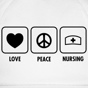 Love - Peace - Nursing T-shirts - Baseballcap