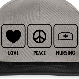 Love - Peace - Nursing T-shirts - Snapbackkeps
