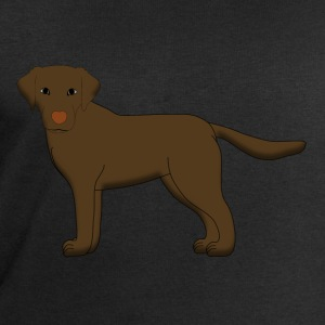 Labrador front Brown Shirts - Men's Sweatshirt by Stanley & Stella