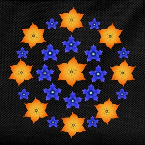 Flowers orange and blue Hoodies & Sweatshirts - Kids' Backpack