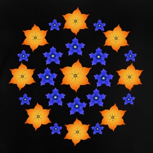 Flowers orange and blue Shirts - Baby T-Shirt