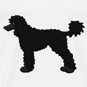 Poodle black Tops - Men's Premium T-Shirt