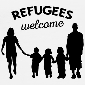 Refugees welcome Buttons - Men's Premium T-Shirt