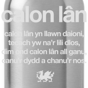 Wales rugby - Calon lân - Mens tshirts - Water Bottle