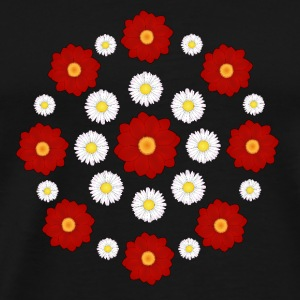 Flowers red and white Annet - Premium T-skjorte for menn