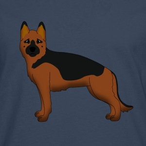 German Shepherd Dog forward Camisetas - Camiseta de manga larga premium hombre