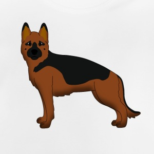 German Shepherd Dog forward Tee shirts - T-shirt Bébé