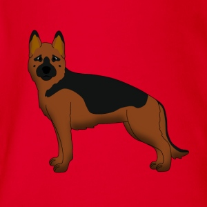 German Shepherd Dog forward Tee shirts - Body bébé bio manches courtes