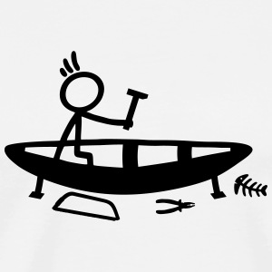 Build Stick Figure Boat Tank Tops - Men's Premium T-Shirt