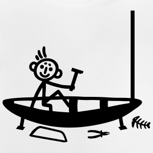 Boat building - stick figure Shirts - Baby T-Shirt