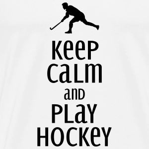 keep calm and play hockey Sweaters - Mannen Premium T-shirt
