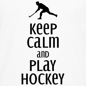 keep calm and play hockey Sweaters - Mannen Premium shirt met lange mouwen