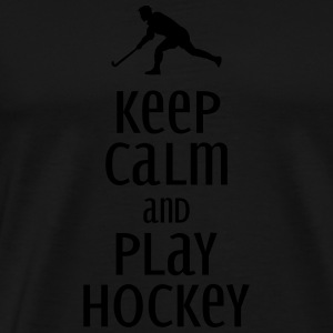 keep calm and play hockey Maglie a manica lunga - Maglietta Premium da uomo