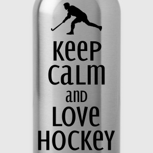 keep calm and love hockey Toppe - Drikkeflaske